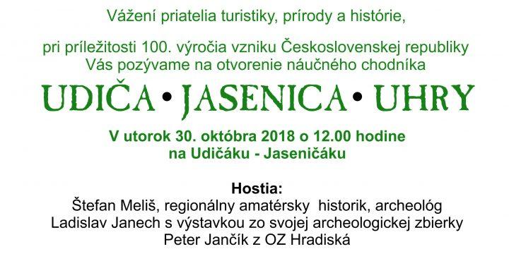 Otvorenie náučného chodníka Udiča-Jasenica-Uhry 30.10.2018